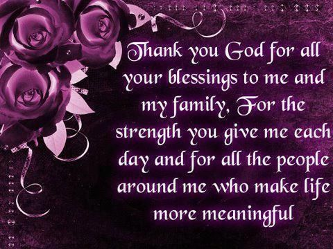 blessings thank you