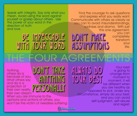 The Four Agreements Living In The Moment