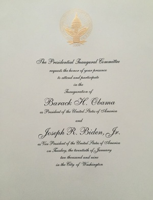 Inaugural Invitation