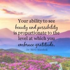 Embrace gratitude