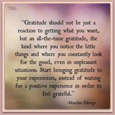 gratitude you bring